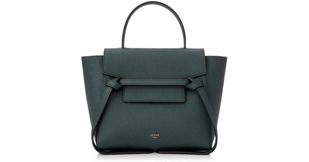 290a988131 Lyst - Céline Nano Belt Bag in Green