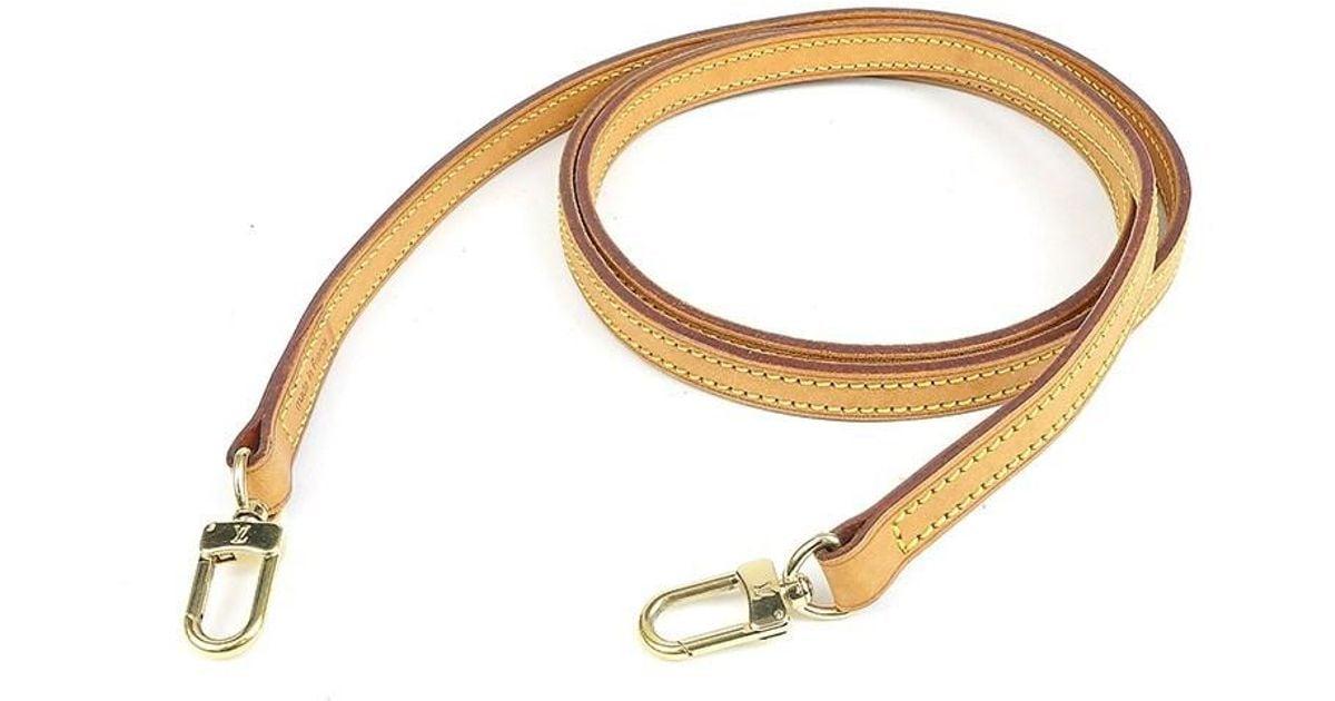 a18f36c9e119 Lyst - Louis Vuitton Nume Leather Shoulder Strap Brown 120cm J00145 in  Natural