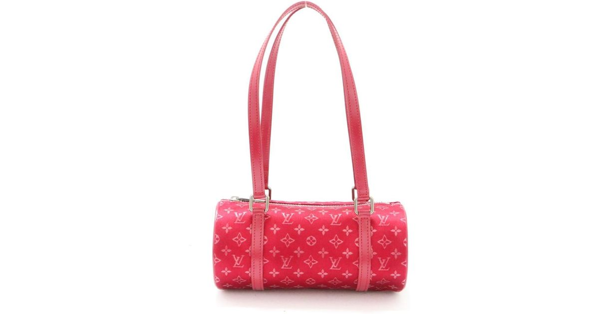 c404eeddd4ce Lyst - Louis Vuitton Auth Little Papillon Shoulder Bag M92353 Monogram Satin  Red Used in Red