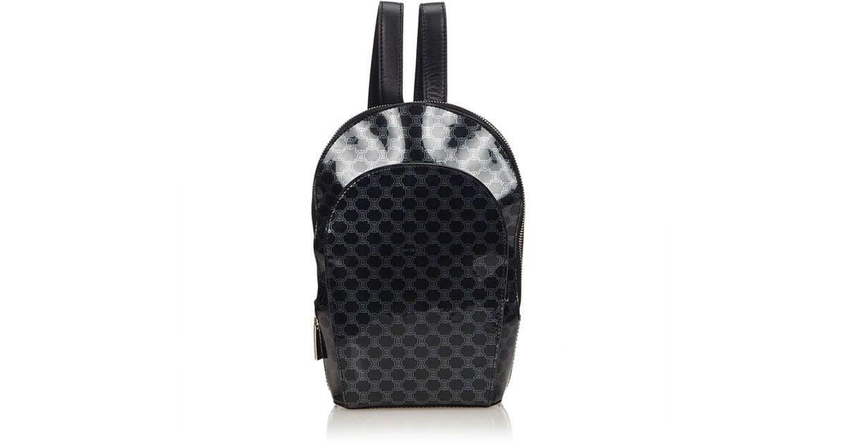 e7197c92a22b Lyst - Céline Vintage Black Cloth Backpacks in Black - Save 36%