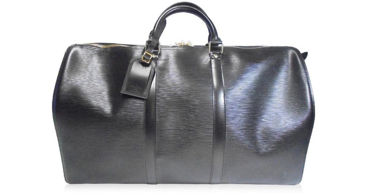 bf2260670d01 Lyst - Louis Vuitton Keepall 50 Boston Bag Travel Bag M42962 Epi Noir Black  in Black