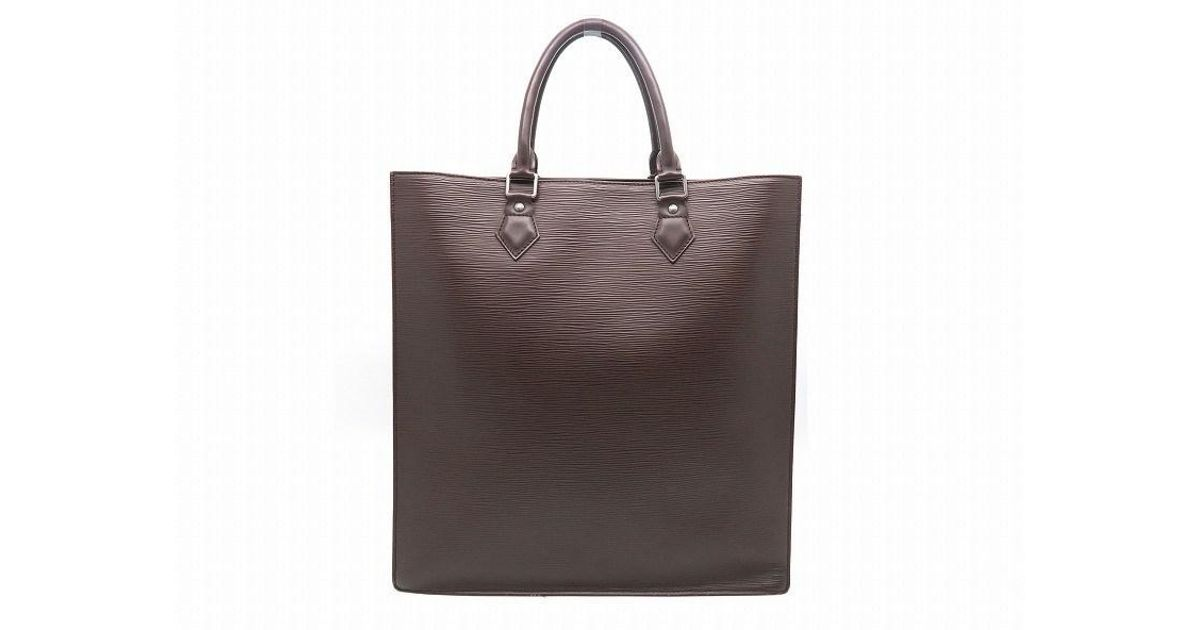 2e080cb316c2 Lyst - Louis Vuitton Epi Sac Plat Tote Bag Handbag Brown 3487 in Brown