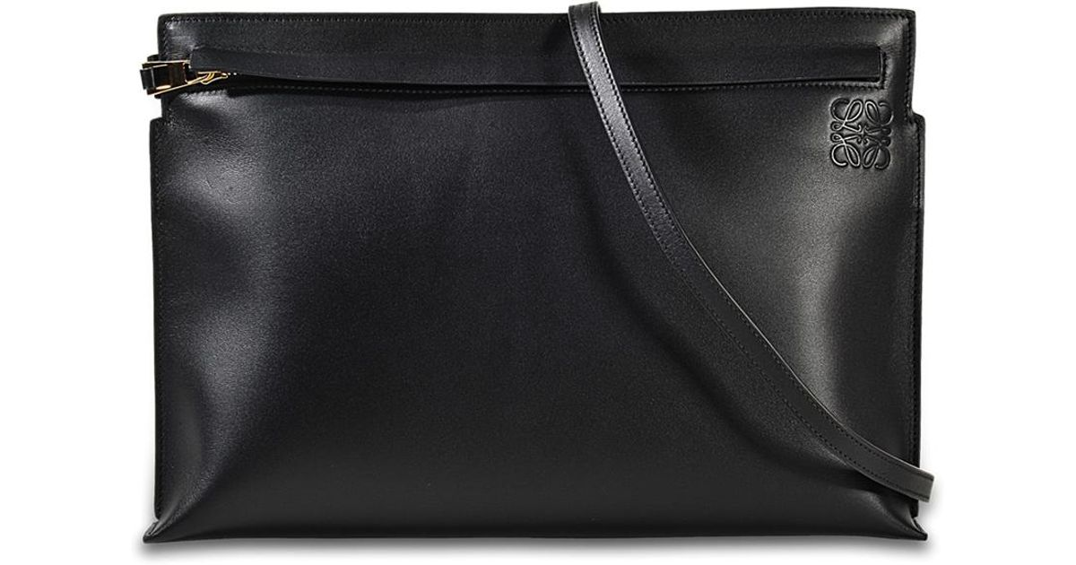 T Pouch Bag in Black Smooth Calf Loewe lyiw4IzF