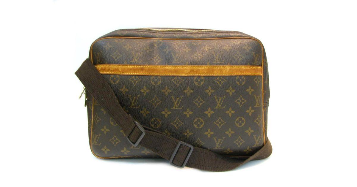 f4f4cc5f82ea Lyst - Louis Vuitton Reporter Gm Shoulder Bag Monogram Canvas M45252 in  Brown