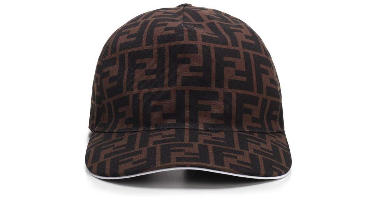 Lyst - Fendi Ff Canvas Baseball Cap for Men - Save 17% 76fa7391995
