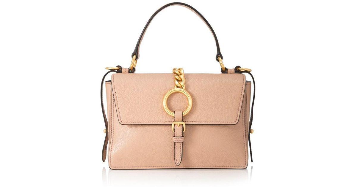 b0b5fb3d0d Lyst - Miu Miu Madras Top Handle Bag in Natural