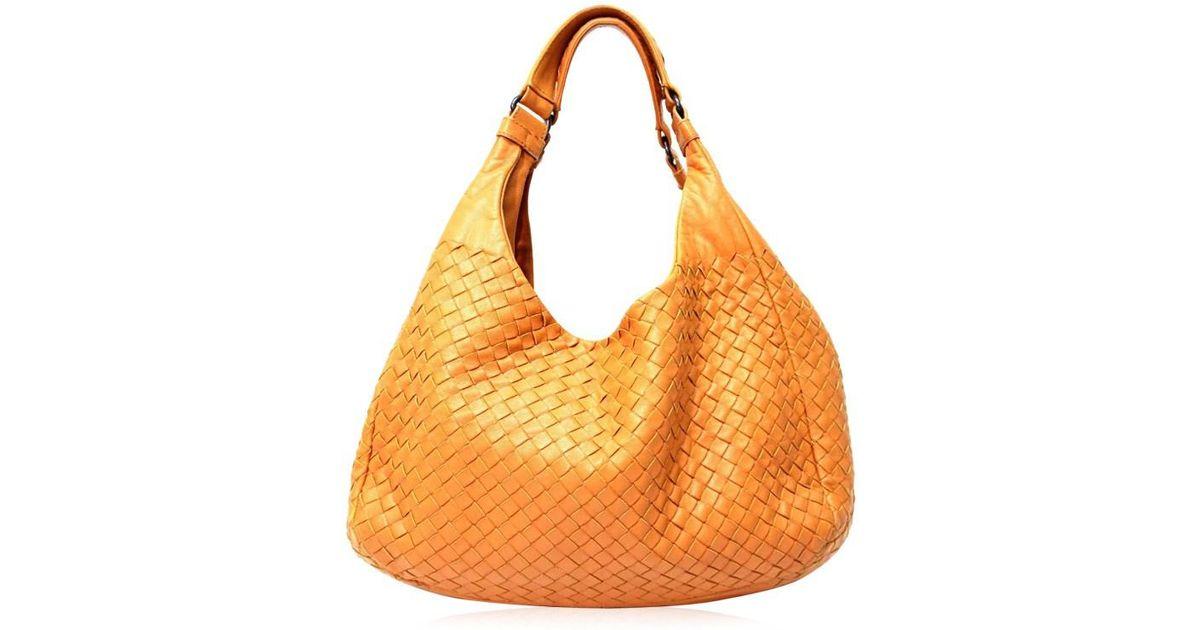 9acf7eeef3 Lyst - Bottega Veneta Intrecciato Tote Bag Shoulder Bag Mustard Series  Leather 125787 in Orange