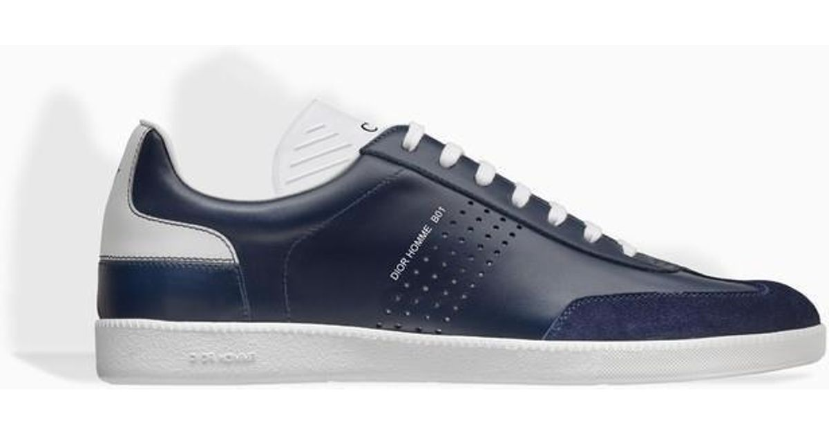 Lyst - Dior Homme Blue And White Smooth Calfskin And Black Suede Calfskin  Trainer, B01 Signature in Blue for Men 23cc7b0f3d5