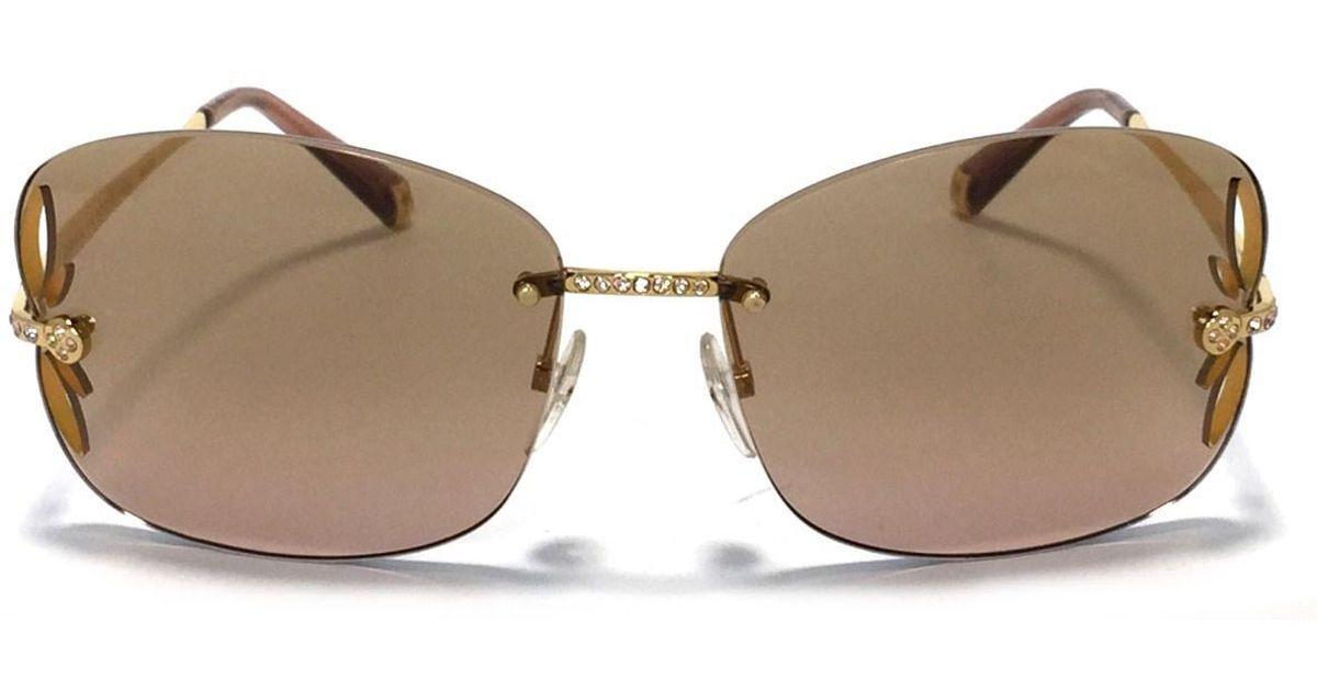 1579286c5869 Lyst - Louis Vuitton Sunglasses Lily Strass Z0543u Women s in Brown