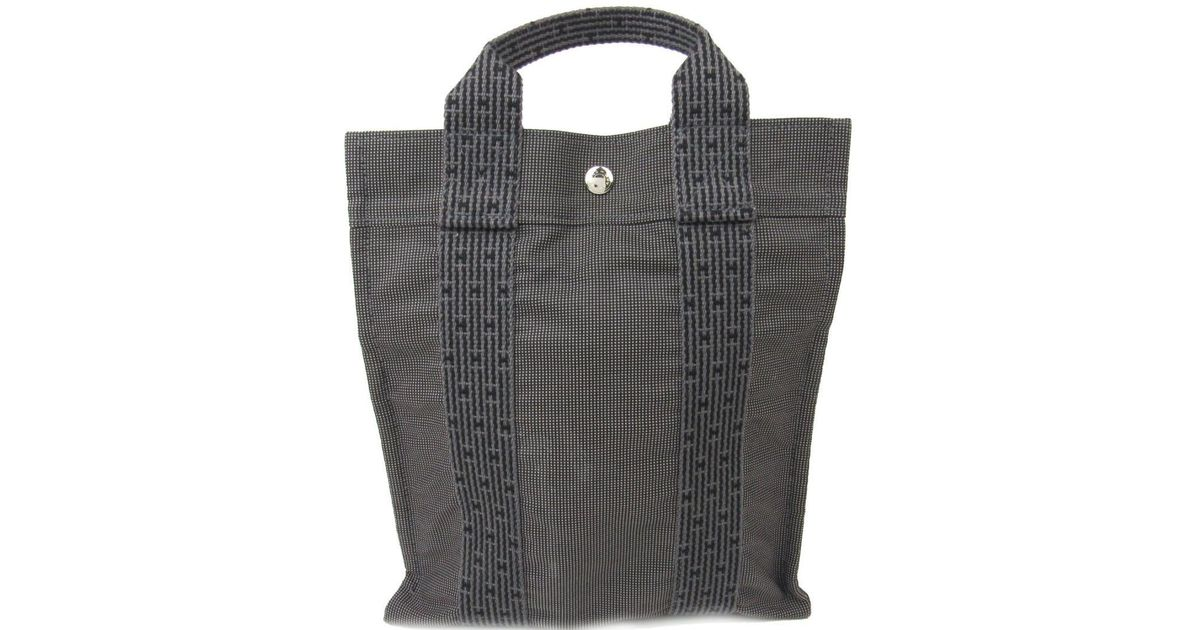 2676e1648 Lyst - Hermès Herline Sac A Dos Pm Backpack Rucksack Canvas Gray in Gray