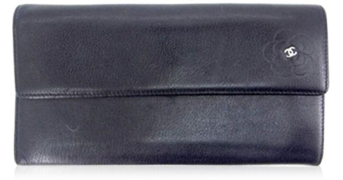 dbbf94d02aaf Lyst - Chanel Wallet Purse Long Bill Compartment Coco Mark / Unisexused  G431 in Black