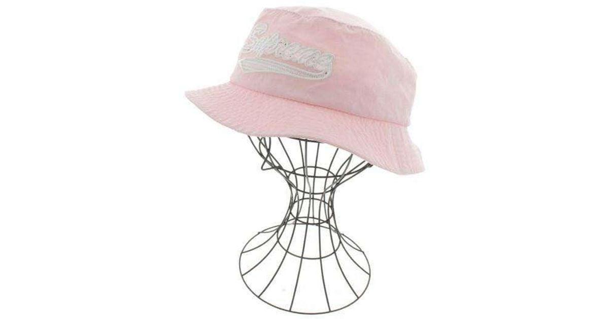 b0768e2a34c2 Lyst - Supreme Hat Pink M l in Pink