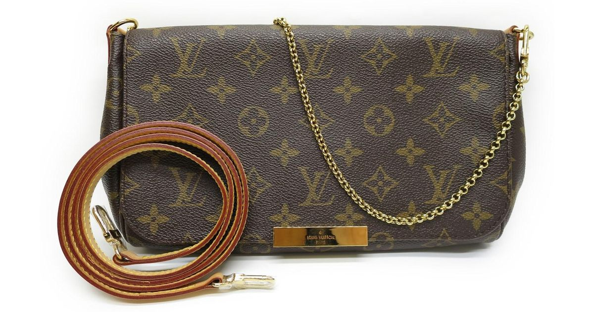 42ec7cfeadf2 Lyst - Louis Vuitton Monogram Favorite Mm Hand Bag Shoulder Bag M40718 in  Brown