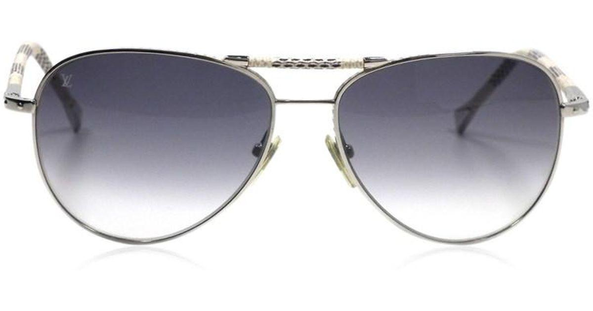 a648e4efdb9 Source · Lyst Louis Vuitton Sunglasses Conspiration Pilot Damier Azur