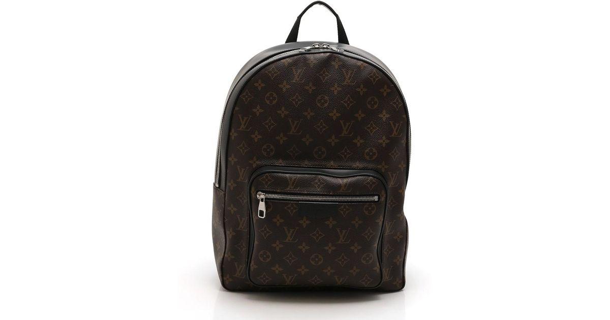 f79c7b1433ef Lyst - Louis Vuitton Josh Backpack Monogram Macassar Pvc Leather Brown Black  in Brown for Men