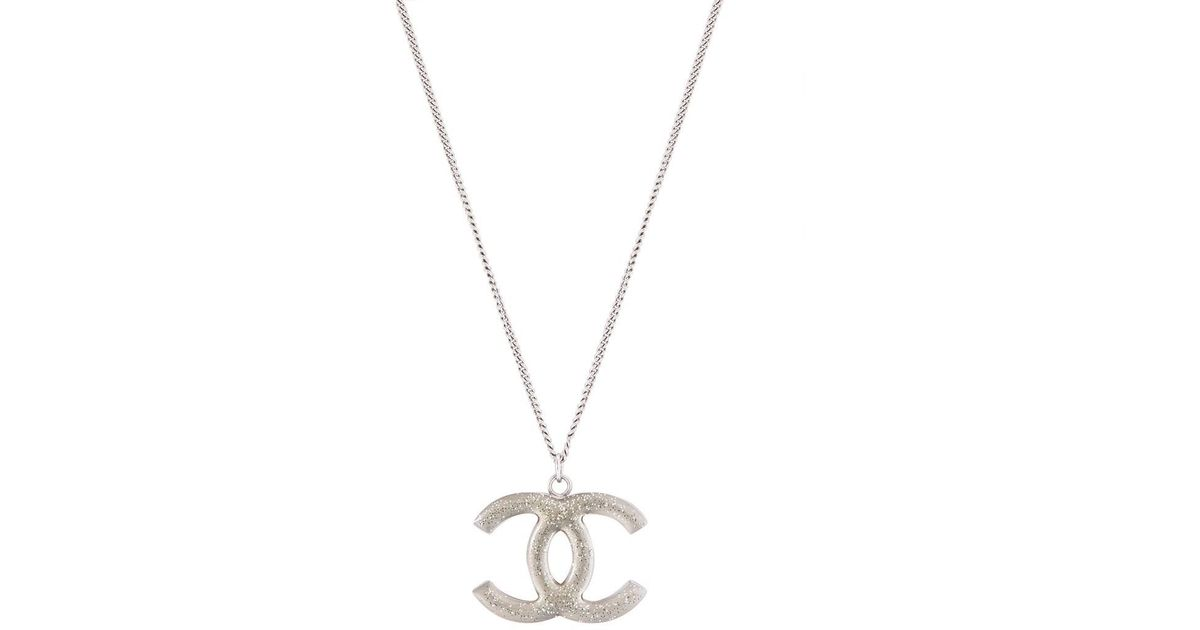 Lyst - Chanel Pre-owned Interlocking C Chain Necklace in Metallic f789efbcfcbf