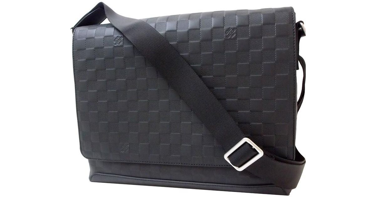 23cdc50e99982 Lyst - Louis Vuitton District Mm Damier Infini Leather Black Shoulder Bag  Messenger Bag  new  in Black for Men