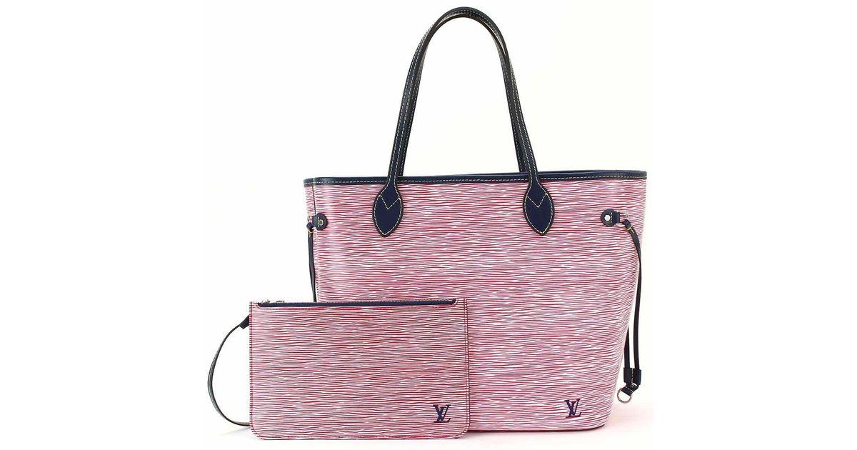 e44e2fb88 Louis Vuitton Epi Denim Neverfull Mm Tote Bag Rouge M54546 90041096.. in  Pink - Lyst