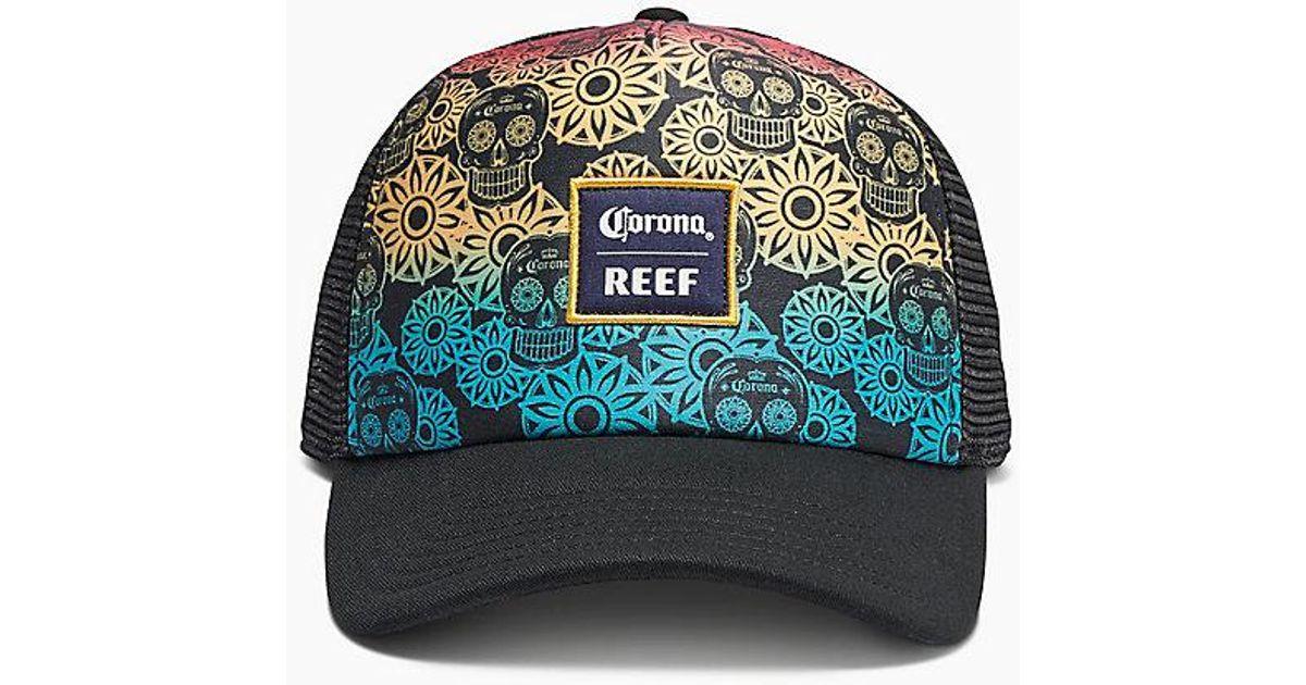 Lyst - Reef Corona 2 Hat in Black for Men 3d3b65113552