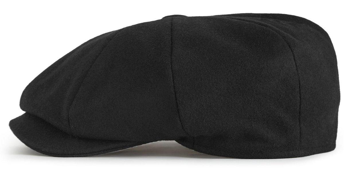 187c113d Lyst - Reiss Shelby - Baker Boy Hat in Black for Men