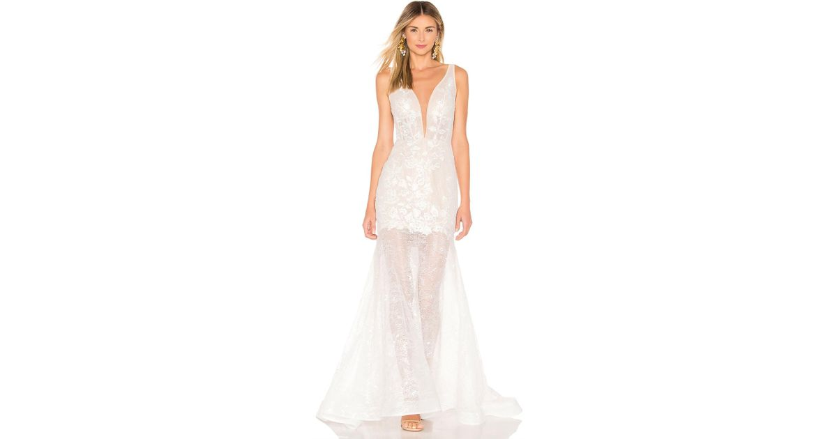 273bfd71df6f Bronx and Banco Estelle Gown in White - Lyst