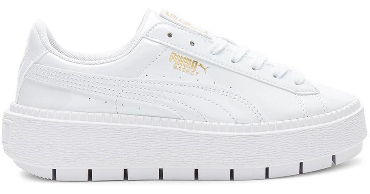 46950f6e493 Lyst - PUMA Basket Platform Trace Sneaker in White