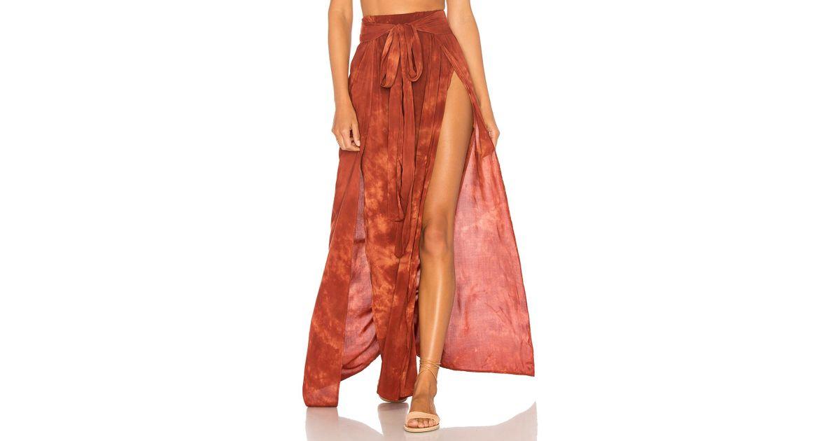9abc4bf090 Blue Life Grace Wrap Skirt in Orange - Lyst