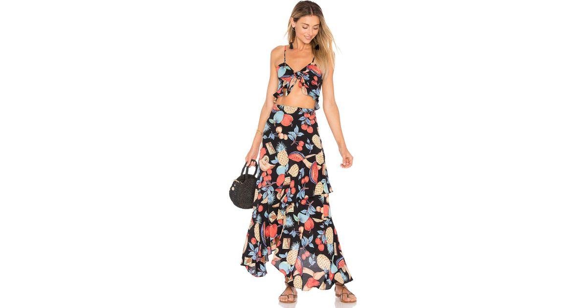 9581d26018a Lyst - Flynn Skye Michelle Maxi Dress in Blue