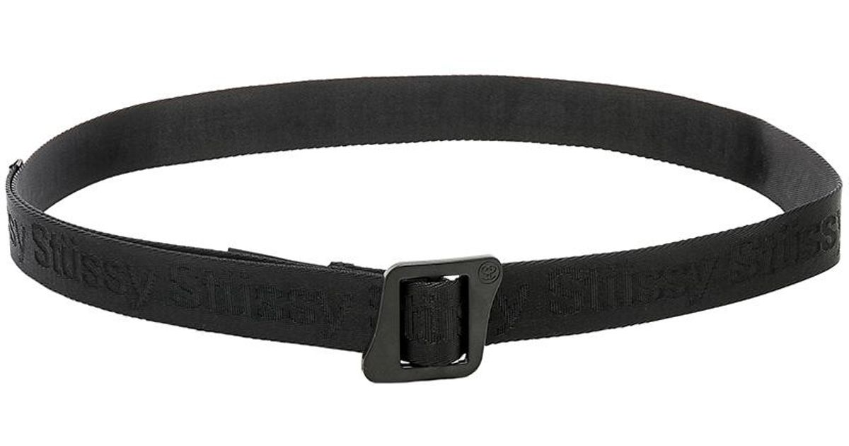 9b7720424b8 Lyst - Stussy Jacquard Climbing Belt In Black. in Black for Men