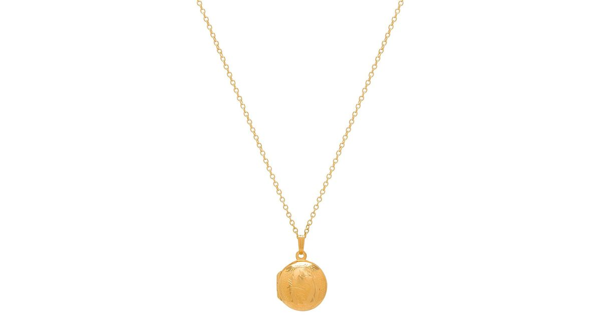 X REVOLVE Oval Gold Locket in Metallic Gold Natalie B Jewelry ELEGQoft