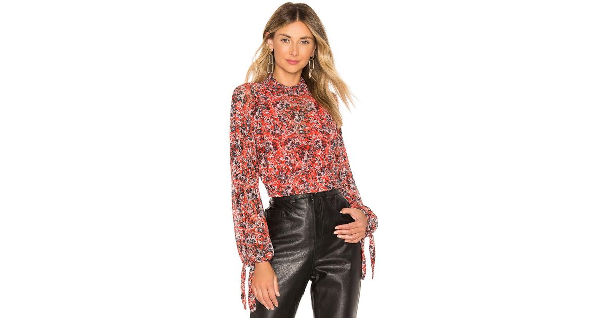 bf937548f3f Lyst - Free People All Dolled Up Top in Red