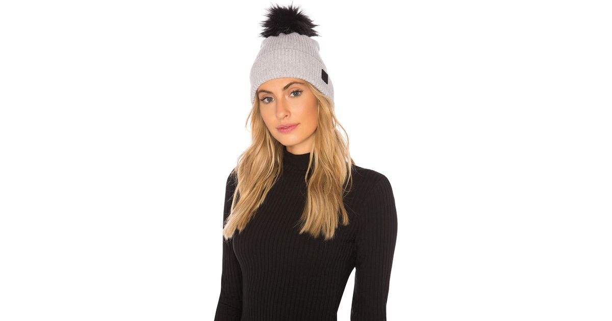 561c01e4 The North Face Cryos Cashmere Pom Beanie in Gray - Lyst