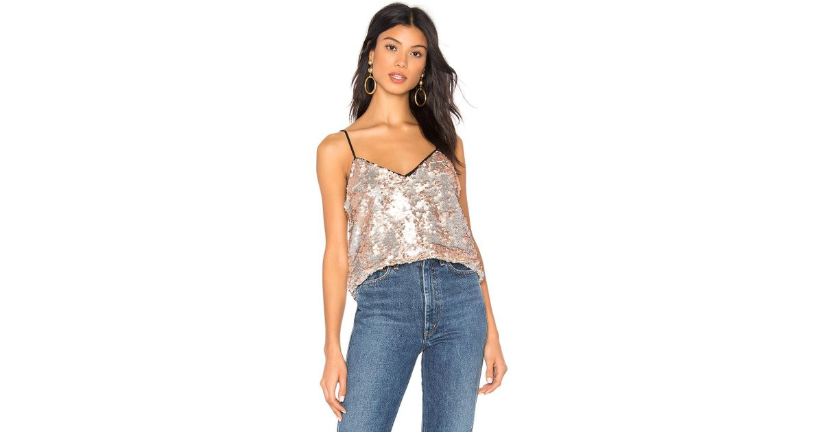 253ff9ba2d6702 Lyst - 1.State Sequin Cami In Metallic Silver