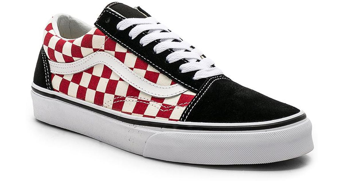 307991a7d6 Lyst - Vans Checkerboard Old Skool in Red for Men