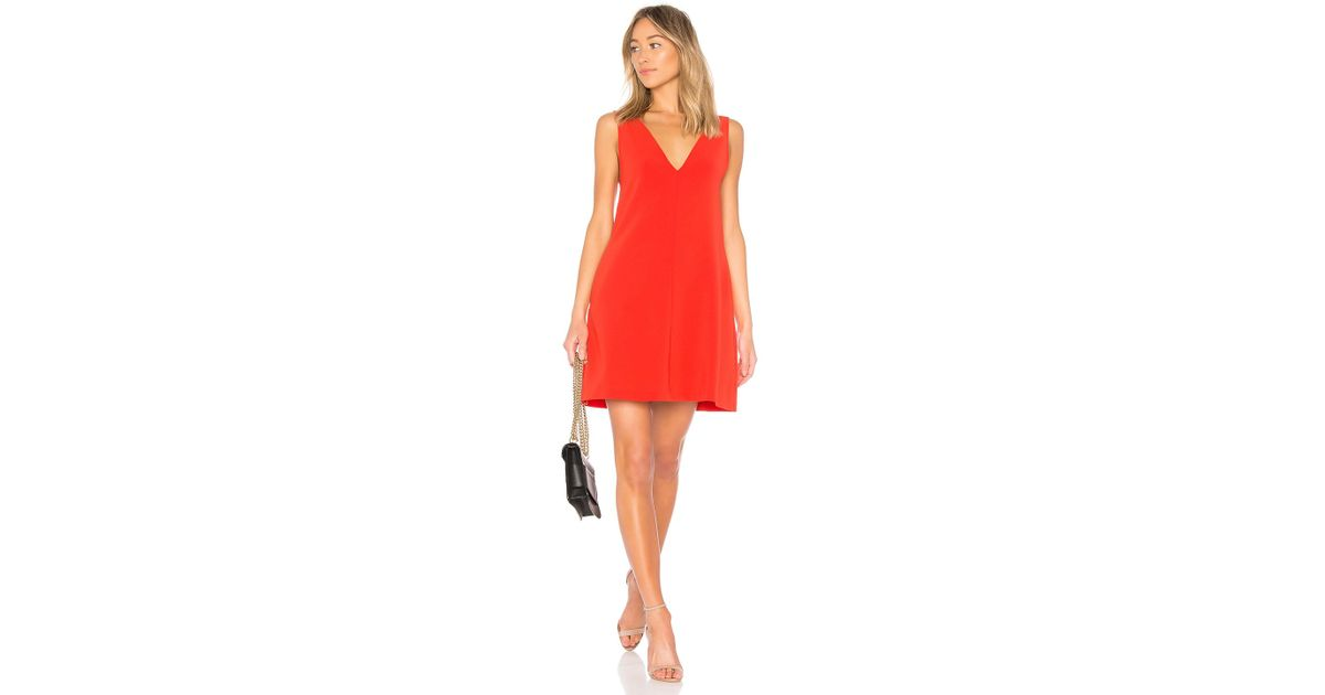 39ce72d6bd Theory V Shift Dress in Red - Lyst