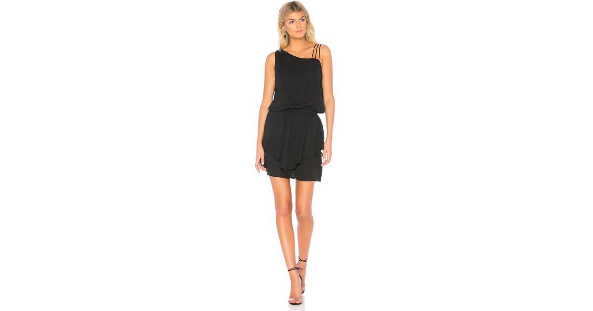 8884ee592fa Lyst - Krisa Asymmetrical Layered Mini Dress in Black