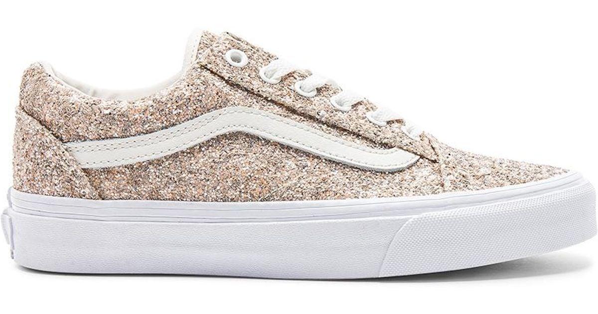 Glitter In Chunky Sneaker White Old Lyst Vans Skool hdxtrQCs