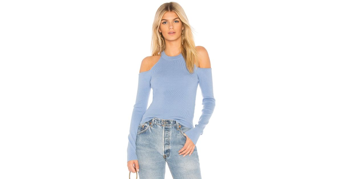 Lyst Majorelle Gemma Crop Sweater In Baby Blue In Blue