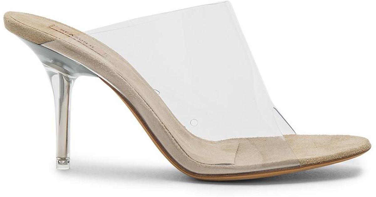 af7a5ca9afbc0 Lyst - Yeezy Season 6 Mule Heel in White