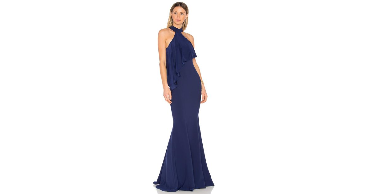 41d9cdc1e0 Lyst - Jay Godfrey Franklin Gown in Blue