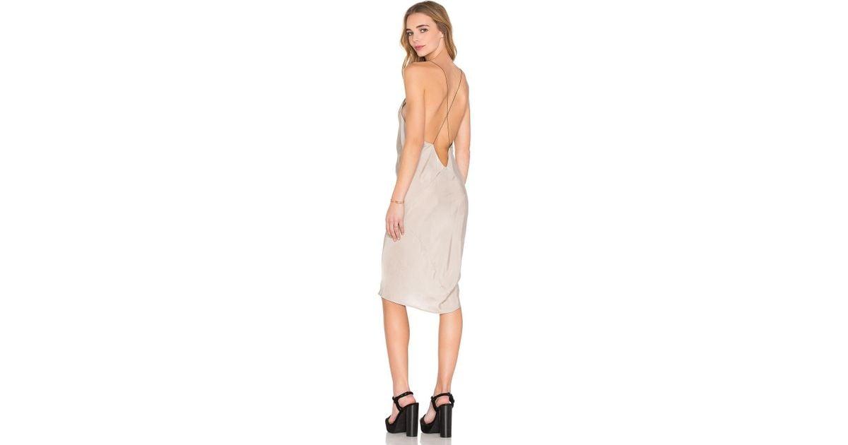 Lyst - Titania Inglis Plunge Slip Dress aa067b1b5