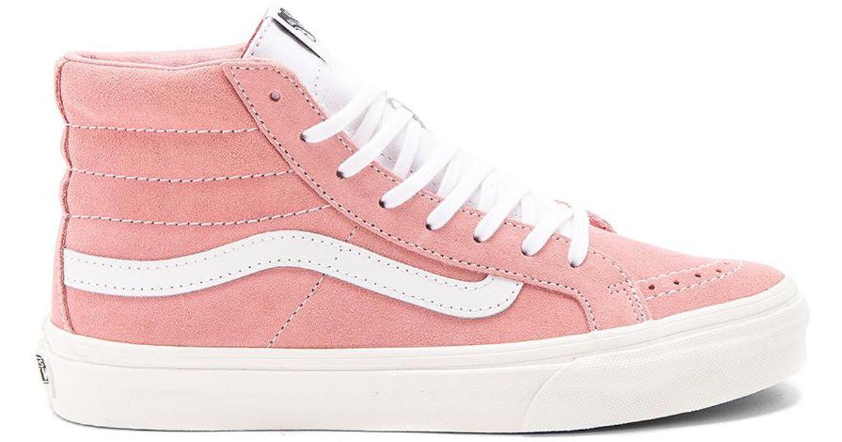 f0631812dfc2c Lyst - Vans Retro Sport Sk8-hi Slim Sneaker in Pink