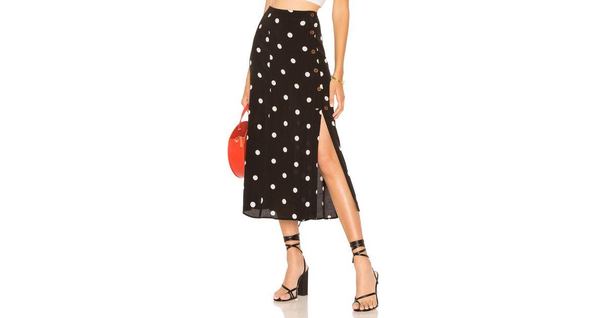 4a967fa7e3dc07 Free People Reto Love Polka Dot Midi Skirt - Womens Uk 8 in Black - Save  68% - Lyst