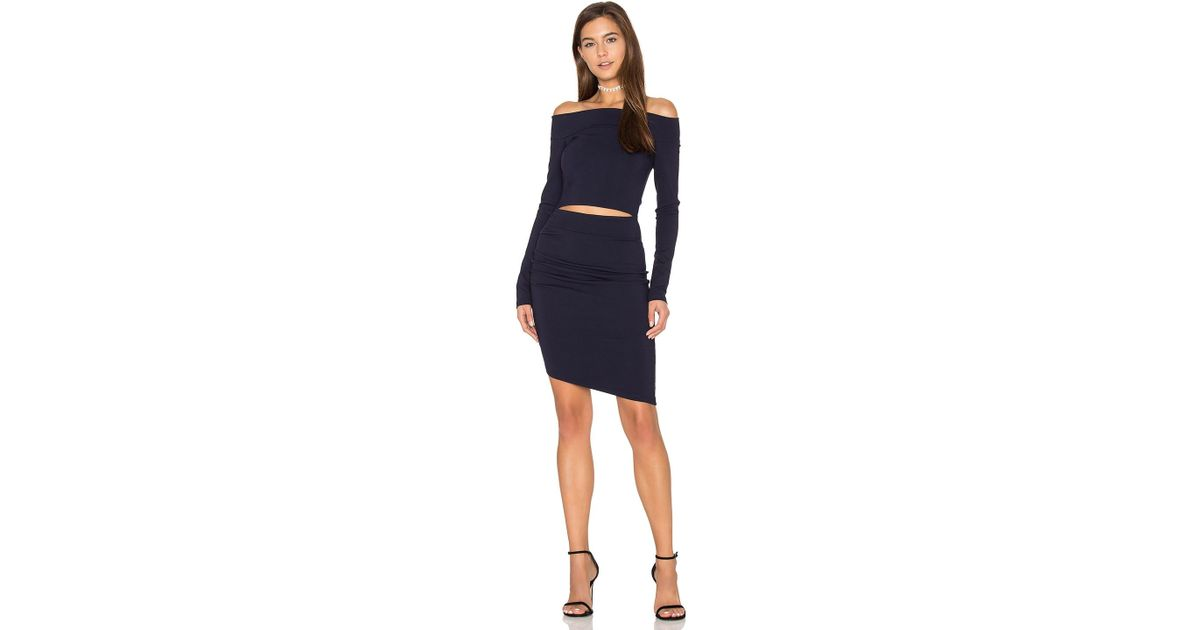 f0f6bbfb29cca1 Lyst - Bec & Bridge Trixie Off The Shoulder Long Sleeve Dress in Blue