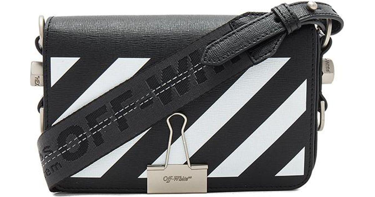 a392091ea2ea9 Lyst - Off-White c o Virgil Abloh Diagonal Square Mini Flap Bag in Black
