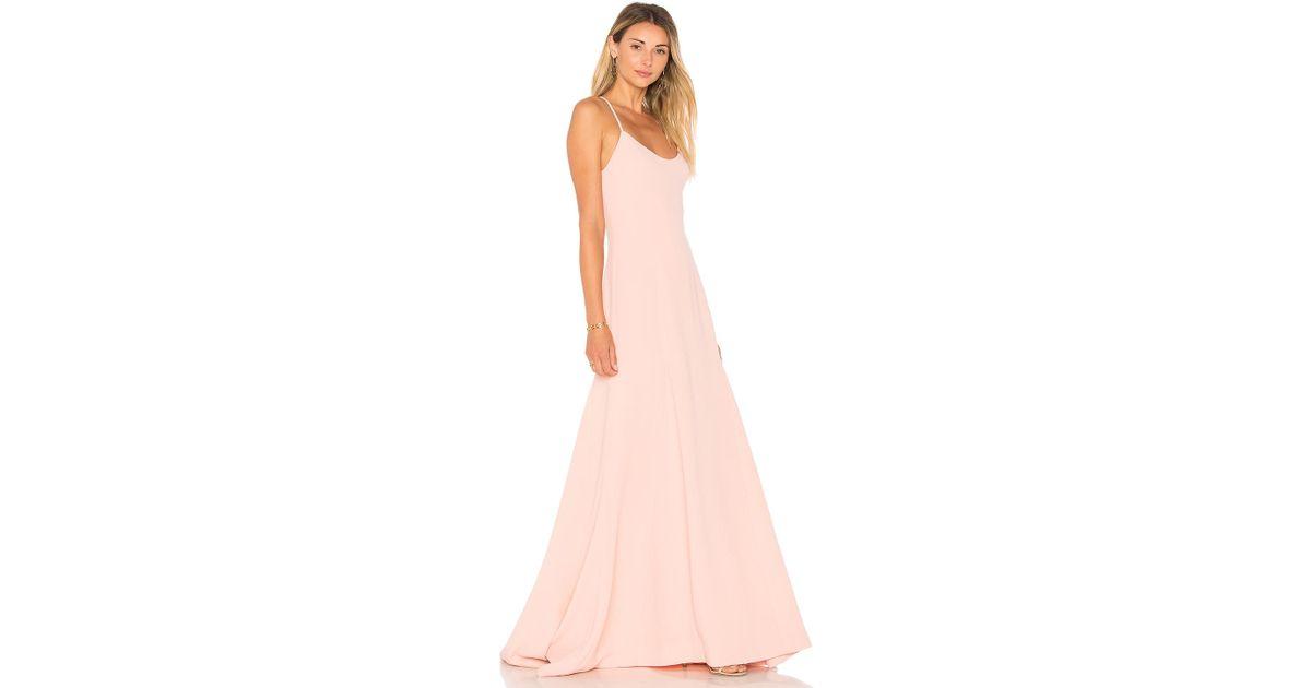 Lyst Lovers Friends X Revolve Brantford Gown In Pink