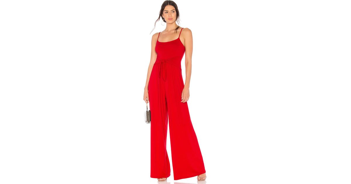 5ea18d5575fb Lyst - Susana Monaco Flowy Jumpsuit in Red