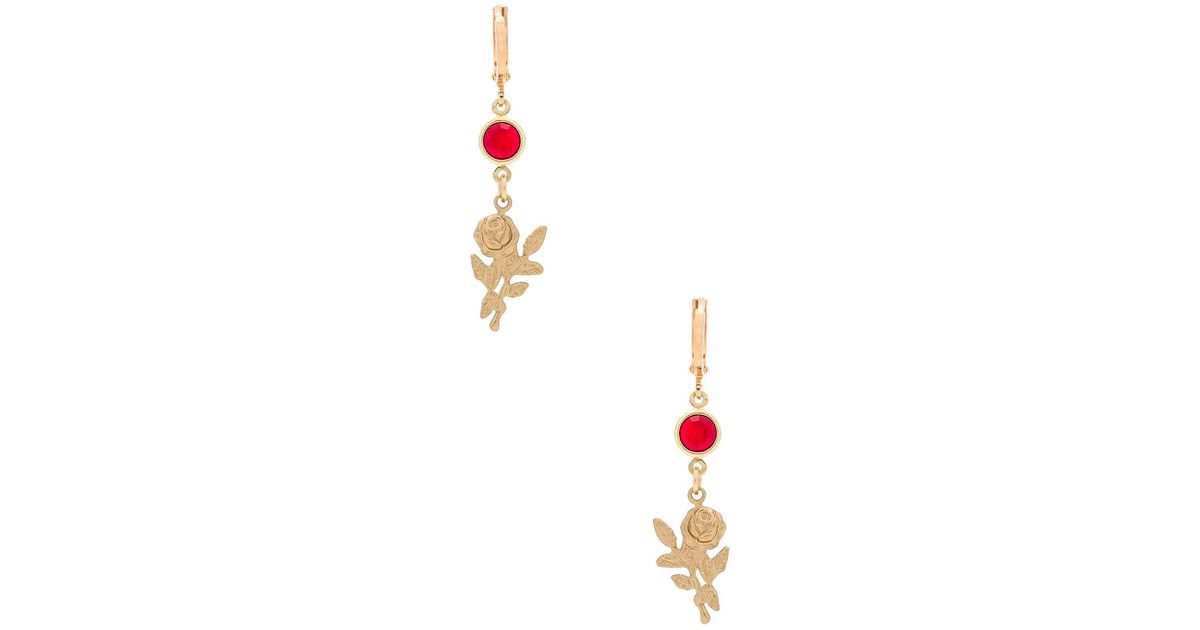 Real Online Hoop There It Is Earrings in Metallic Gold Frasier Sterling Cheap Price Store DvCulu1lZE