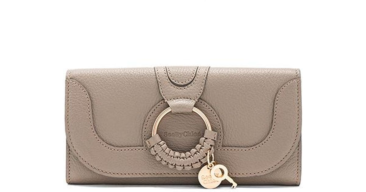 d495063fb5 See By Chloé - Gray Hana Long Wallet With Flap - Lyst