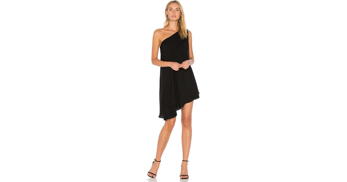921e3e5fd430 Bobi Black One Shoulder Dress in Black - Lyst